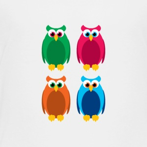 colorful owls - Toddler Premium T-Shirt