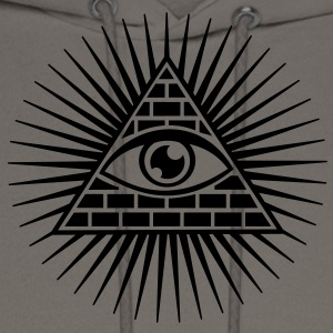 eye of providence, pyramid, all seeing eye, god T-Shirts - Men's Hoodie