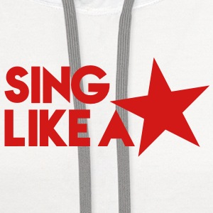 SING LIKE A STAR! music musician stars! Women's T-Shirts - Contrast Hoodie