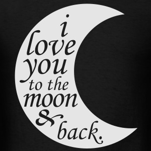 i love you to the moon & back Long Sleeve Shirts - Men's T-Shirt