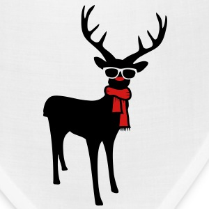 A reindeer with scarf and glasses Women's T-Shirts - Bandana