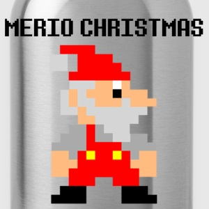 8-Bit Santa in Mario Brothers style - Water Bottle