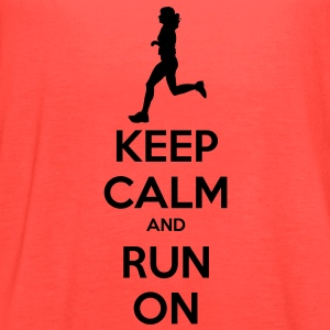 Keep Calm & Run Men's Shirt - Women's Flowy Tank Top by Bella