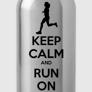 Keep Calm & Run Men's Shirt - Water Bottle