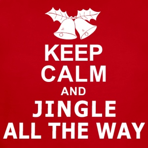 Keep Calm and Jingle All The Way Kids' Shirts - Short Sleeve Baby Bodysuit