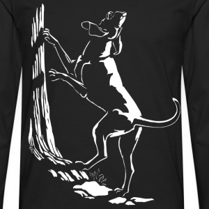 Hound Dog Shirt Hunting Dog Gifts Kids - Men's Premium Long Sleeve T-Shirt