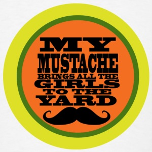 Retro Mustache Humor - Men's T-Shirt