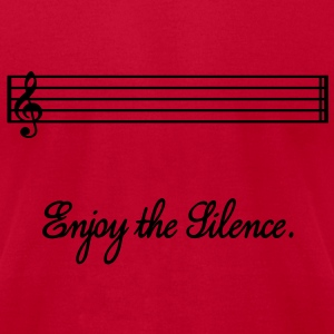 enjoy the silence Sweatshirts - Men's T-Shirt by American Apparel
