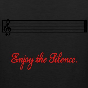 enjoy the silence Hoodies - Men's Premium Tank