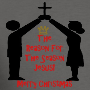 the_reason_for_merry_christmas3 Zip Hoodies/Jackets - Men's T-Shirt
