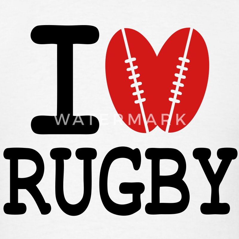 T-shirt i love rugby - Men's T-Shirt