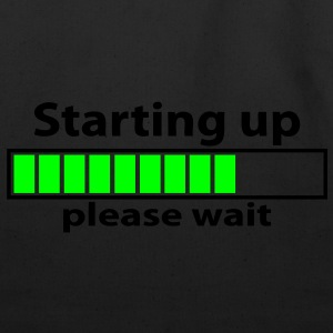 T-shirt geek starting up please wait - Eco-Friendly Cotton Tote