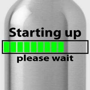 T-shirt geek starting up please wait - Water Bottle