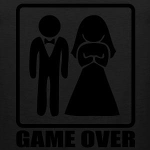 T-shirt marriage game over - Men's Premium Tank