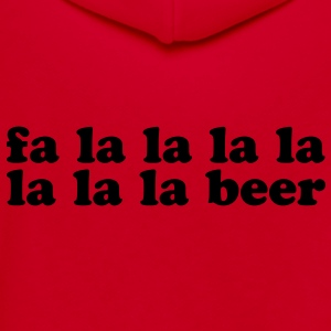 Fa La La La La La La La Beer - Unisex Fleece Zip Hoodie by American Apparel