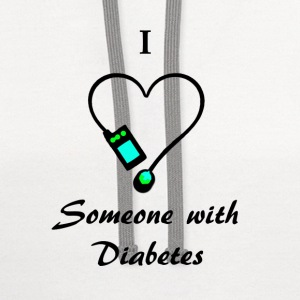 I Love Someone With Diabetes - A - B/G Women's T-Shirts - Contrast Hoodie