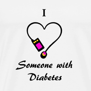 I Love Someone With Diabetes - A - P/O Buttons - Men's Premium T-Shirt