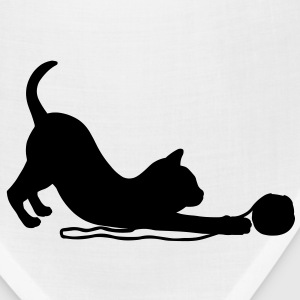 Kitten playing with a ball of wool.  Accessories - Bandana