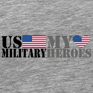 US MILITARY MY HEROES Hoodies - Men's Premium T-Shirt