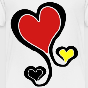 germany flag heart Kids' Shirts - Toddler Premium T-Shirt