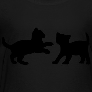Two Kittens Playing Kids' Shirts - Toddler Premium T-Shirt