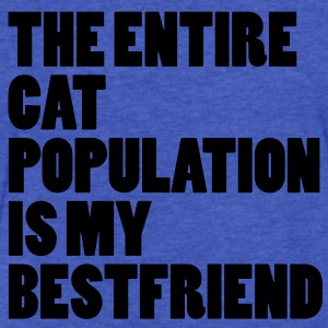 The Entire Cat Population Sweatshirts - Fitted Cotton/Poly T-Shirt by Next Level