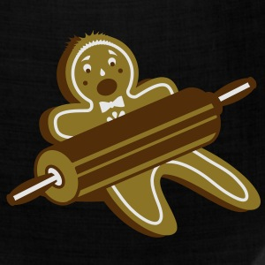 A rolling pin and a gingerbread man  Long Sleeve Shirts - Bandana