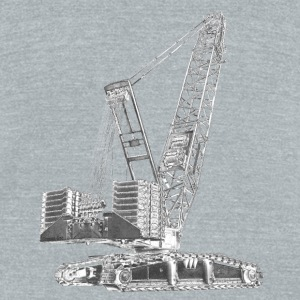 Crawler Crane 750t Accessories - Unisex Tri-Blend T-Shirt by American Apparel