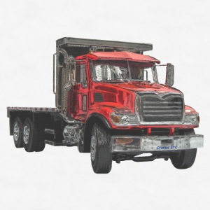 Flatbed Truck - Red Accessories - Men's T-Shirt
