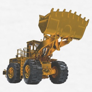 Old Mining Wheel Loader - Yellow Accessories - Men's T-Shirt
