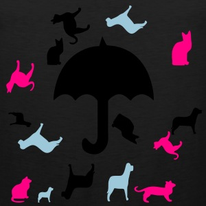 raining_cats_and_dogs3 T-Shirts - Men's Premium Tank