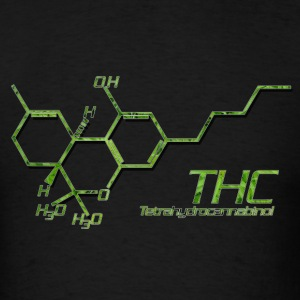 THC Molecule - Men's T-Shirt