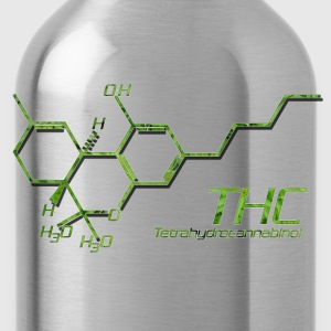 THC Molecule - Water Bottle