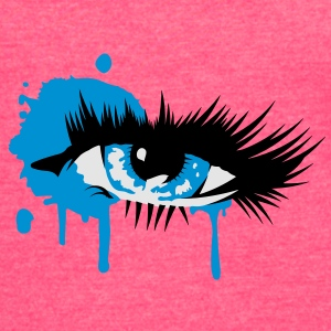 A colored eye with long eyelashes Tanks - Women's Vintage Sport T-Shirt