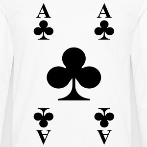 Ace of clubs Kids' Shirts - Men's Premium Long Sleeve T-Shirt