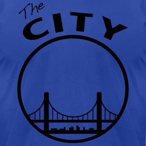 The City - San Francisco - Bay Area - Men's T-Shirt by American Apparel