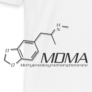 MDMA Molecule Grey - Men's Premium T-Shirt