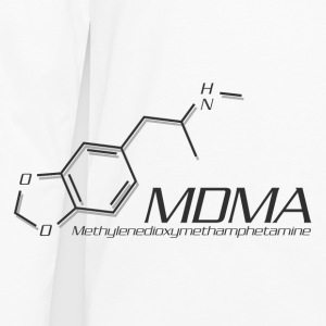 MDMA Molecule Grey - Men's Premium Long Sleeve T-Shirt