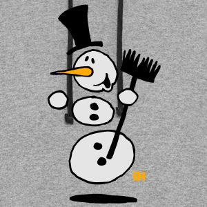 Dancing snowman Long Sleeve Shirts - Colorblock Hoodie