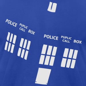 tardis Hoodies - Men's T-Shirt by American Apparel