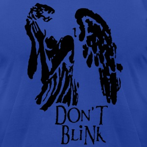 don't blink Hoodies - Men's T-Shirt by American Apparel