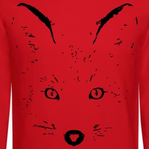 animal t-shirt fox jackal coyote eyes shape cat Women's T-Shirts - Crewneck Sweatshirt