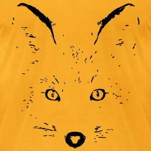 animal t-shirt fox jackal coyote eyes shape cat Bags  - Men's T-Shirt by American Apparel
