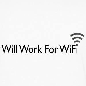 WILL WORK FOR WIFI T-Shirts - Men's Premium Long Sleeve T-Shirt