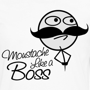Mustache Like a boss - Men's Premium Long Sleeve T-Shirt