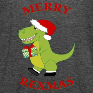Merry Rexmas T-Rex tie-dye t-shirt - Women's Flowy Tank Top by Bella