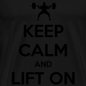 Keep Calm And Lift On Tanks - Men's Premium T-Shirt