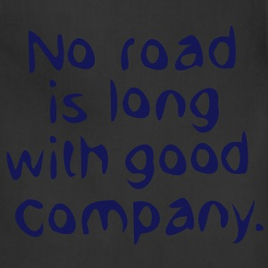 No road is long with good company Women's Scoop Ne - Adjustable Apron