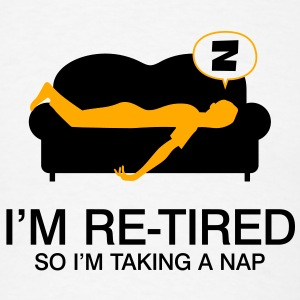 Retired Taking Nap 4 (2c)++2012 Accessories - Men's T-Shirt