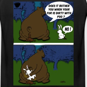 Bear Paw When a Bear poos in the woods Long Sleeve Shirts - Men's Premium Tank